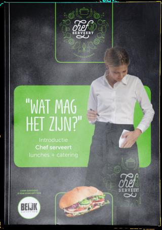 Catering Groningen Drenthe Friesland Chef Serveert Brochure cateraar Beijk