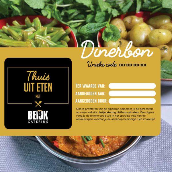 dinerbon thuis uit eten Groningen Friesland
