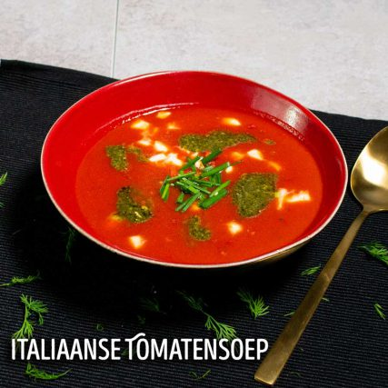 italiaanse tomatensoep luxe diner thuis bezorgd