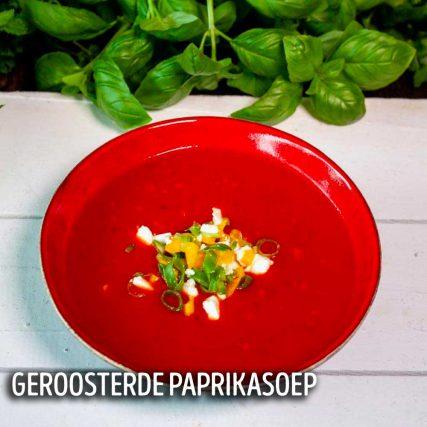 thuis uit eten Groningen voorgerecht paprikasoep