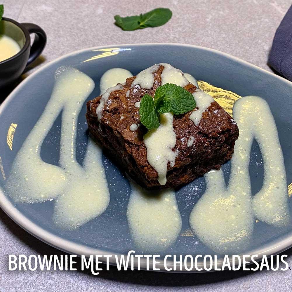 brownie dessert thuis uit eten
