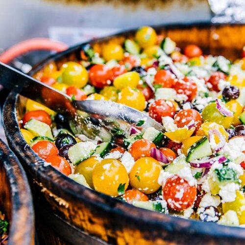 luxe catering tuinfeest saladbar salades