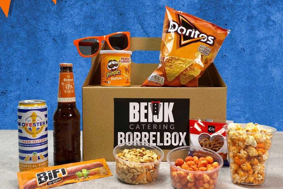 oranje box borrel hapjes artikelen speelschema