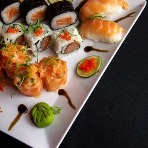 luxe catering tuinfeest sushi